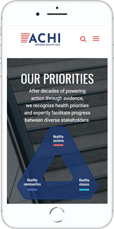 A WordPress website developed by Advanced Systemics for Association for Community Health Improvement
