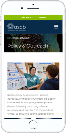 A WordPress website developed by Advanced Systemics for The American Society for Cell Biology