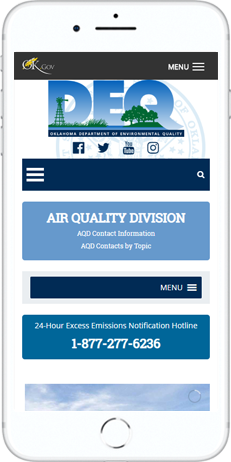 A WordPress website developed by Advanced Systemics for Department of Environment Quality
