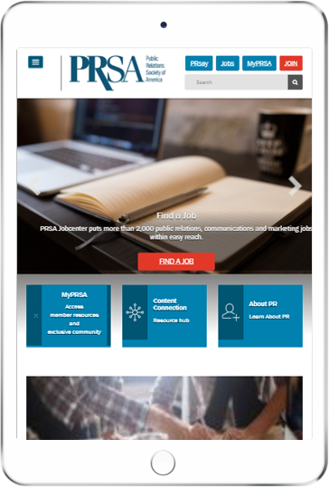 A WordPress website developed by Advanced Systemics for the Public Relations Society of America